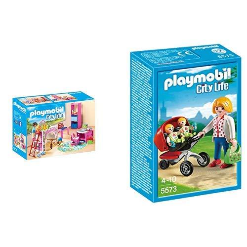 Playmobil 9270 - Fröhliches Kinderzimmer &  5573 - Zwillingskinderwagen