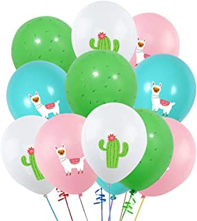 40PCS Llama Cactus 3D Printed Party Balloons Decorations, Llama Themed Birthday Party Supplies, Bolivian Peru Alpaca Party Cactus 12 INCH Thick Latex Balloons for Baby Shower Kids Birthday Party Decor