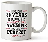 80th Birthday Gifts For Women Eighty Years Old Men Gift Happy Funny 80 Mens Womens Womans Wifes Female Man Best Friend Basket 1940 Male Unique Ideas 40 Woman Wife Gag Dad Cute Girls Guys Good Husband