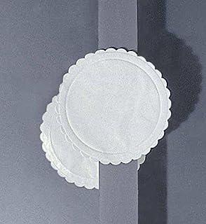 500 posavasos, papel absorbente, blanco, 9 cm de diámetro, cartón desechable