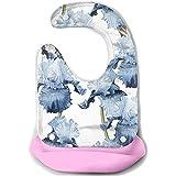 Babero impermeable de silicona súper de silicona para bebés Babero babeante Alimento Hebilla ajustable Baberos de baba de pañuelo para bebé, Baberos para dentición para bebés
