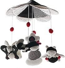 SHILOH Baby Crib Decoration Newborn Gift Plush Musical Mobile (Bees)