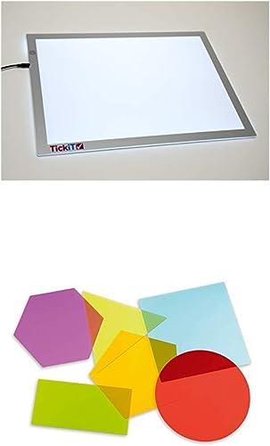tienda de venta TickiT 73048 Panel de luz de tamaño A2 +    TickiT 72395 Figuras de Colors de tamaño gigante, 200 mm de diámetro  edición limitada