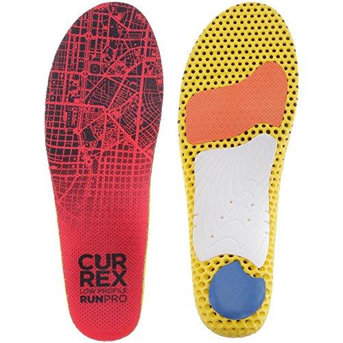 CURREX RunPro Sohle – Entdecke Deine Einlage für eine neue Dimension des Laufens, Dynamische Einlegesohle, Rot- Low Profile Gr.- EU 42-44/ L