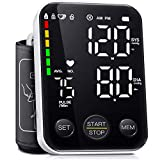 DOUHAO Blood Pressure Monitor Automatic Digital Upper Arm Bp Cuff Machine with Led Backlit Display 2 Users 240 Memory Irregular Heartbeat Detector