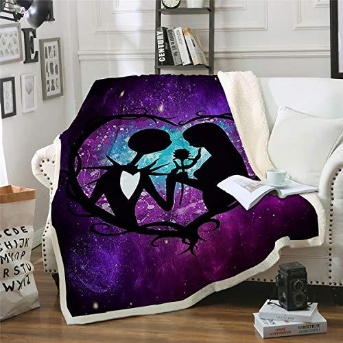 WONGS BEDDING Kuscheldecke Flanell Mikrofaser 150x200cm Fleecedecke Gedruckte Decke Weich Wohndecke Tagesdecke Dicke Sofadecke zweiseitige Decke für Bett und Couch