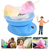 Cotton Candy Maker- Nostalgia Retro Hard and Sugar Free Countertop, Electric Commercial Cotton Candy Machine, Candy Floss Maker for Various Parties (A-blue)