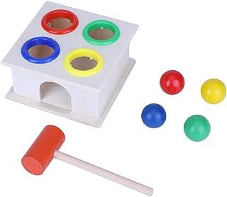 Salinr トントン打ってひっくり返す 叩くおもちゃ 木のおもちゃ 知育玩具 ハンマートイ 知育 玩具 叩いて コロがす 形合わせ 子供 教育 木の槌で打つ木
