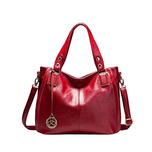 Tisdaini Bolsos de Mano Mujer Bolsos Bandolera Moda Gran Capacidad Cuero Suave Bolsos Totes Shoppers y Bolsos de Hombro