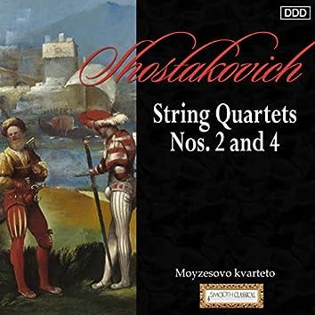 Shostakovich: String Quartets Nos. 2 and 4
