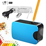 Sacapuntas eléctrico profesional Autmor para niños, diseño de seguridad, batería y alimentación USB, para el aula o la oficina