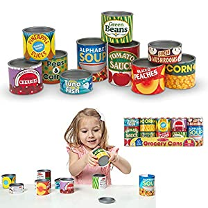 melissa & doug let's play house grocery cans - 51CmCu58HpL - Melissa & Doug Let's Play House Grocery Cans