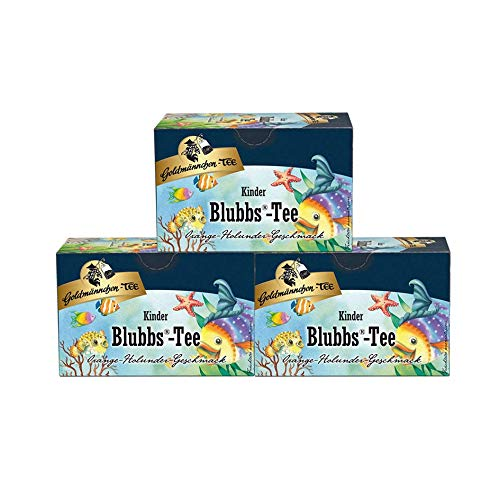Goldmännchen Kindertee Blubbs-Tee, 20 einzeln versiegelte Teebeutel, 3er Pack (3 x 45 g)