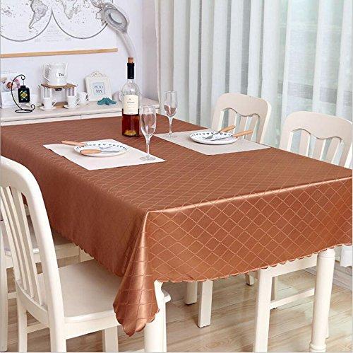 FGDJTYYJ Polyester staubdicht Tischdecken Hochwertige Jacquard Brokat Tischdecke rot 140 * 200cm, Gold