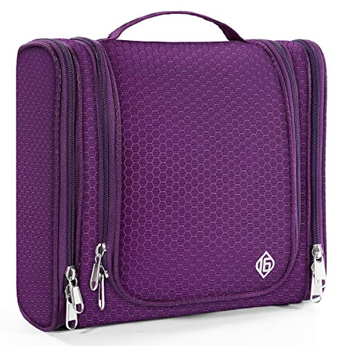 16 Hanging Toiletry Travel Bag for Men and Women Heavy Duty Waterproof Sturdy Hook Shower Bag ONLY SIXTEEN (Purple)