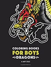 Coloring Books For Boys: Dragons: Advanced Coloring Pages for Teenagers, Tweens, Older Kids & Boys, Detailed Dragon Designs With Tigers & More, ... Stress Relief & Relaxation, Relaxing Designs