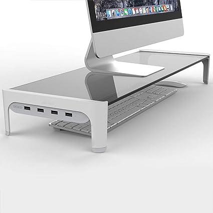JTB Monitor Soporte Vertical con 4 USB 3.0 Hub Puertos y ...