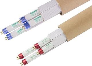 Lightingwise 4 FT 6500K T5 HO Fluorescent Grow Light Bulbs - Pack of 1,4,8,20,40 (8, half/half veg/bloom)
