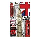 COFEIYISI Toallas de Manos Londres Inglaterra City Landmark Retro Union Teléfono Bus Big Ben Flag Toalla Facial Toalla de baño pequeña Microfibra Absorebentes Esencial para Viajar a casa 40x70cm