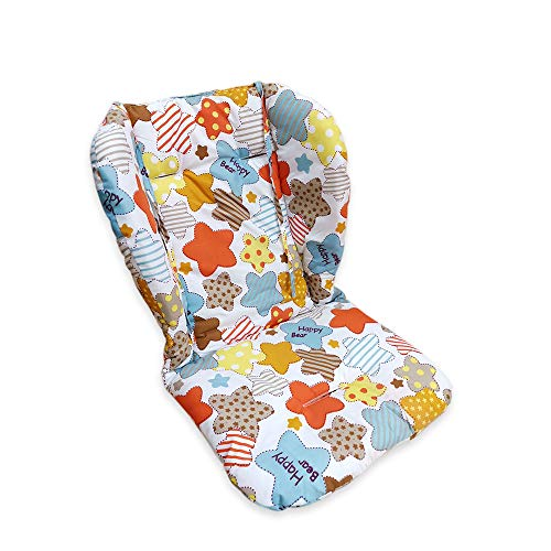 High Chair Pad, Baby/highchair/seat Cushion/Breathable Seat Pad,Comfortable and Soft, Suitable for The High Chair and Stroller in The Picture(Colored Stars Pattern)