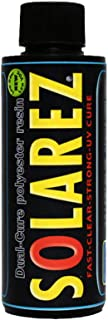 Solarez UV Dual Cure, Low-VOC Clear Polyester Resin (4 Oz) ~ Clear Laminating Resin - No Waiting! for Custom Woodworking, ...