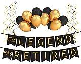 """Sterling James Co. Paquete de Decoración para Jubilación """"The Legend Has Retired"""" (La Leyenda se ha Jubilado) – Artículos, Regalo y Decoración para Fiesta de Jubilación"""