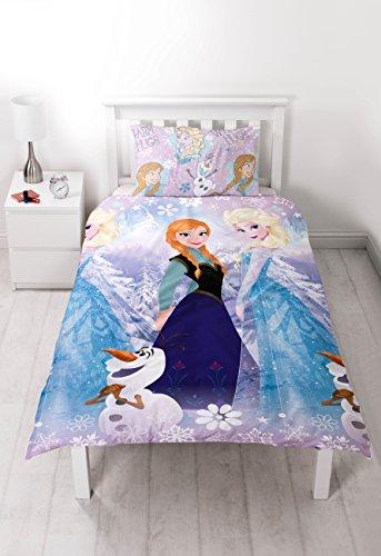 Disney Housse de Couette Frozen Elsa & Anna 135x200 cm + Taie 50x75cm 1 Personne