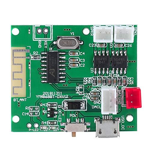VBESTLIFE Audio-Leistungsverstärkerplatine, Bluetooth 5.0 DC 3.7-5V 5W * 2-Leistungsstereoverstärkerplatine mit Mikrowellen-Leistungsschaltersteuerung