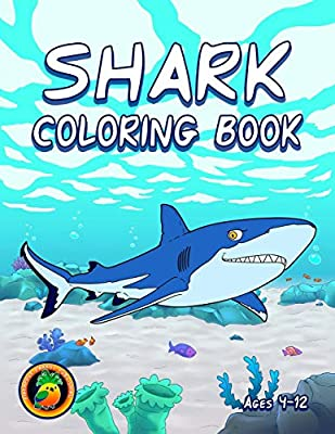 Shark Coloring Book: Ages 4-8, 8-12