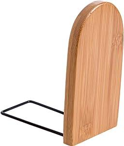 LOFAMI Bibliothèques 1 Pcs Bamboo Étagère De Livre Stand De Bureau Bookend Bureau Titulaire Stand Home Office Livres Fichier Organisateur