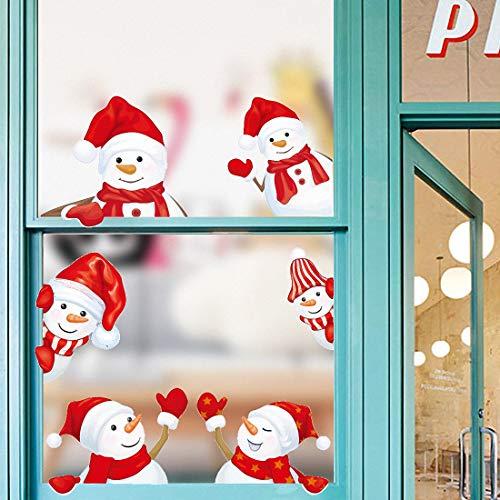 Weihnachtsdeko Fenster, Weihnachten Fensterbilder Kinder, Türaufkleber Wandaufkleber Fensteraufkleber Fensterdeko Selbstklebend, für Türen Schaufenster Vitrinen, Glasfronten Deko