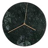 COSYOO Orologio Da Parete in Ceramica di Ceramica Marmo 12In Mute Orologio Rotondo In Metallo Silenzioso Orologio Da Parete Hanging