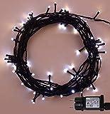 Luces de hadas de Navidad 500 LED 2 in 1 Blanco caliente y fresco árbol interior y exterior uso de Navidad luces de cadena de 50m/164ft pies iluminado longitud con Alambre de plomo - Cable verde