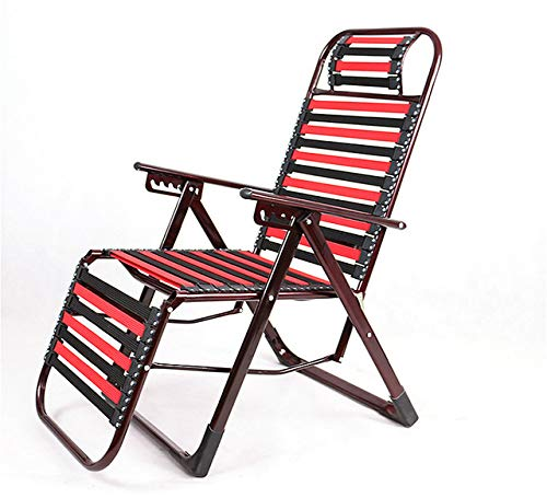 Bvcahosg Silla Plegable reclinable para Exteriores multifunción con Banda de Goma Silla de Tira elástica de Playa Transpirable, A