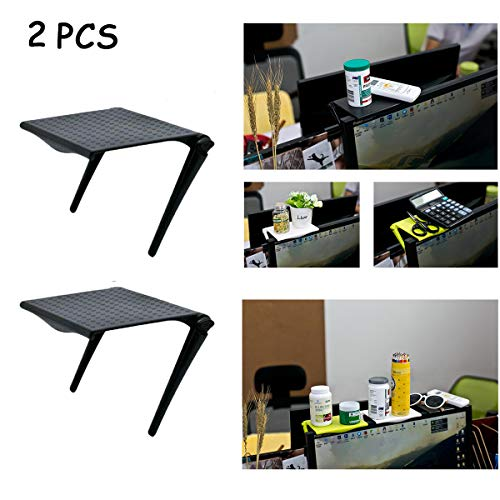 2 PCS Multifunktionsregal für Fernseher, verstellbares, langlebiges Fernsehbildschirm Regal, zusammenklappbarer Organizer für Flachbildfernseher (Schwarz)