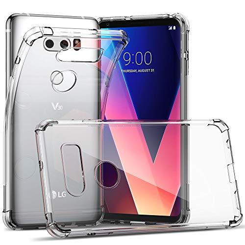 CASEVASN Compatiable with LG V30 / LG V30S / LG V30 Plus/LG V30S ThinQ/LG V35 / LG V35 ThinQ, Ultra Slim Thin Anti-Scratches Flexible TPU Gel Slim Fit Soft Skin Silicone Protective Case Cover (Clear)