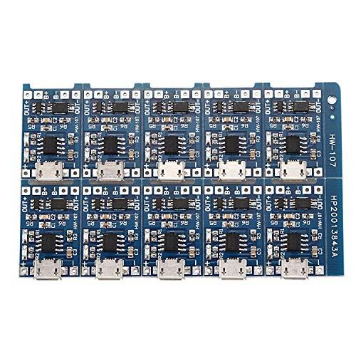tellaLuna 10 unids 5 V USB 1A 18650 TP4056 batería de litio placa de carga con módulo cargador