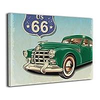 Skydoor J パネル ポスターフレーム アメリカフラッグ 車 インテリア アートフレーム 額 モダン 壁掛けポスタ アート 壁アート 壁掛け絵画 装飾画 かべ飾り 50×40