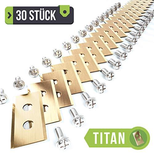 Herbstangebot. Plemont® [30er Set] Titan Worx Landroid Messer. Premium Ersatzklingen für viele Worx® Mähroboter. Ersatzteile, Rasenroboter, Ersatzmesser, Automover