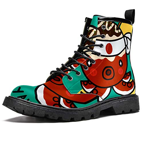 LORVIES - Zapatos de tacón para hombre, piel informal, (multicolor), 44 EU