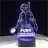 3d Visualisation Optique Illusion Lampgame Player Unknown's Battlegrounds 7 Colors...