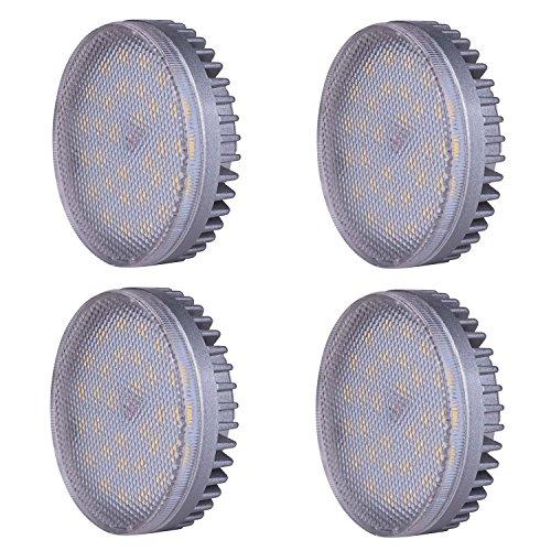 Lampaous LED GX53 Einbauleuchte Lampe 8W, ersatz für 60W Glühlampen, Warmweiß 640lm LED Kabinett-Beleuchtung Schrankleuchten Kleiderschrank Unterbauleuchte Einbaustrahler Spot Deckenlampen, 4er Pack