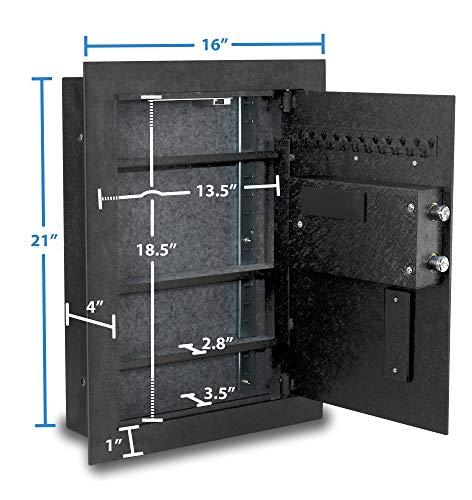 9. Viking Security Safe VS-52BLX Biometric Fingerprint Hidden Wall Safe