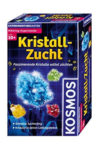 KOSMOS 659028 Kristall-Zucht, Faszinierende Kristalle selbst züchten, schneller Zuchterfolg, Kristalle in deinen Lieblingsfarben, Experimentierset, Mitbingexperiment, für Kinder 10 Jahre
