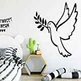 Neue Vogel Selbstklebende Vinyltapete Für Kinderzimmer Wohnzimmer Wohnkultur Pvc Wandtattoos Kaffee L 43 cm X 53 cm