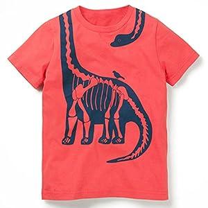LZE夏 半袖 男の子 シンプル カジュアル おしゃ 子供服 Tシャツ子供 漫画プリント 半袖Tシャツ ブラウス シャツ 可愛いよ 6色オプション 日常用 90〜140 シャツ トップス 6サイズ 1-7歳