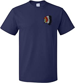Funny Graphic T Shirts for Men Indian Chef Feather Headdress Cotton Top