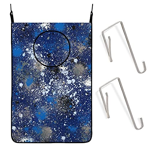 Bolsa de lavandería colgante de tinta, color azul eléctrico, cesta de ropa...