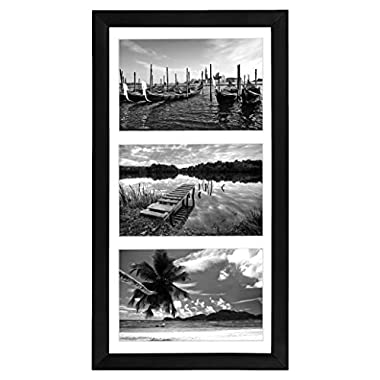 Americanflat Collage Picture Frame 5x7 By Display Three Photos Sized 5x7 on Your Wall - Perfect As a Family Collage Picture Frame (8x16 Frame with 3 5x7 Openings)