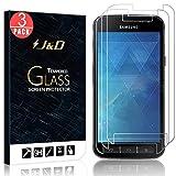 J&D Compatible pour 3-Pack Protection écran Galaxy Xcover 4, [Verre Trempé] [Non...